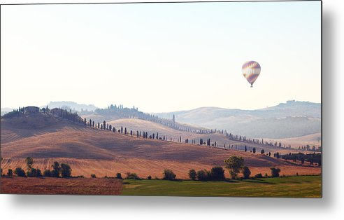 Horizontal Metal Print featuring the photograph Early Morning In Tuscany by Lena Khachina