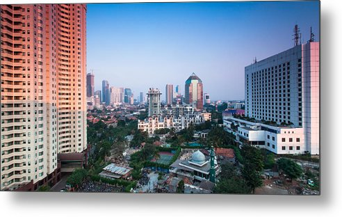 Horizontal Metal Print featuring the photograph Jakarta by Photo by Jim Boud