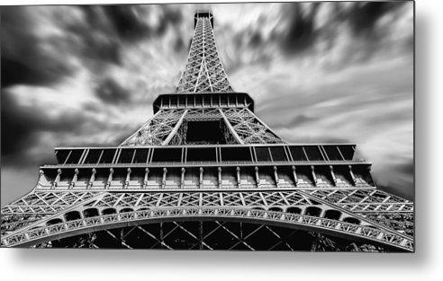 Eiffel Tower Metal Print featuring the digital art Eiffel Tower by Dorothy Binder