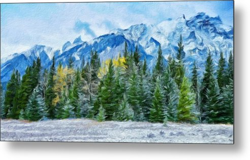 Landscape Metal Print featuring the painting Nature Landscape Nature by World Map