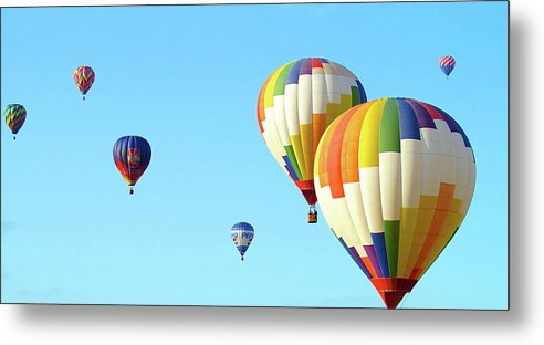 Balloons Metal Print featuring the photograph 7 Balloons by Linda Cupps