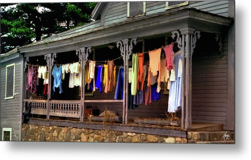 Alton Metal Print featuring the photograph Alton Washday Revisited by Wayne King