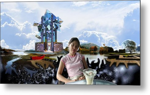 Spacem Maine Metal Print featuring the digital art Emma's Afternoon Snack by Dave Martsolf