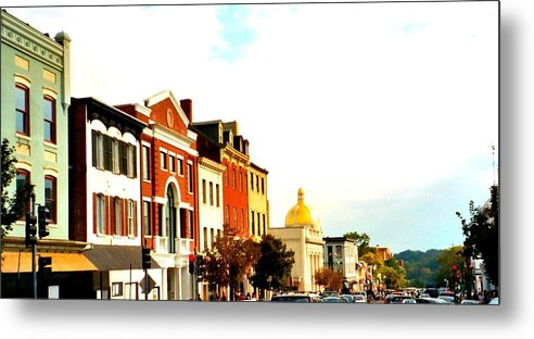 Buildings Metal Print featuring the photograph Georgetown by Bob Gardner