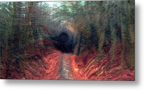 Forest Metal Print featuring the photograph Into The Forest by Linda Sannuti