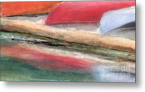 Boats Metal Print featuring the painting Reflections by Vivian Mosley