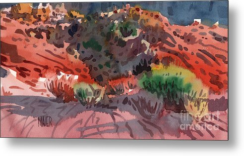 Sagebrush Metal Print featuring the painting Sagebrush by Donald Maier