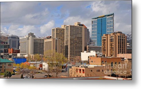 Salt Lake City Metal Print featuring the photograph Salt Lake City by Dennis Hammer