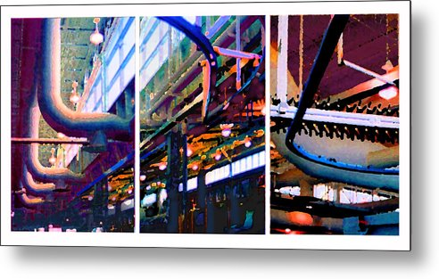 Abstract Metal Print featuring the photograph Star Factory by Steve Karol