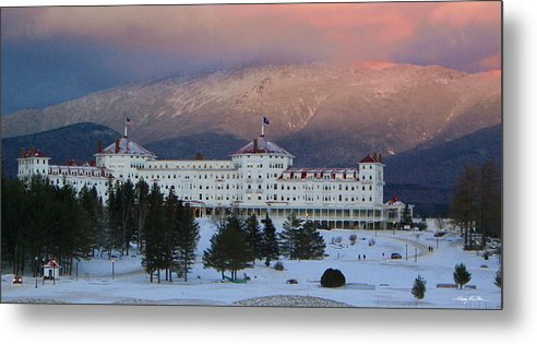 Mount Washington Metal Print featuring the photograph The Hotel by Harry Moulton