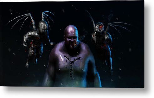 Dead Metal Print featuring the digital art Trio by Jamie Fox