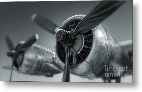 Airplanes Metal Print featuring the photograph Airplane Propeller - 02 by Gregory Dyer