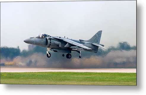 3scape Metal Print featuring the photograph Av-8b Harrier by Adam Romanowicz