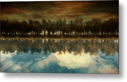 Landscape Metal Print featuring the digital art I Forget What Eight Was For by Whiskey Monday