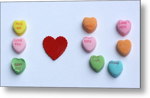 Valentines Day Metal Print featuring the photograph I Heart U by Diana Haronis