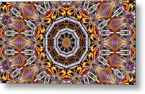 Kaleidoscope Metal Print featuring the digital art Kaleidoscope 41 by Ron Bissett