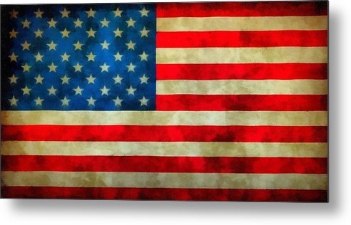 Old Glory Metal Print featuring the painting Old Glory by Dan Sproul