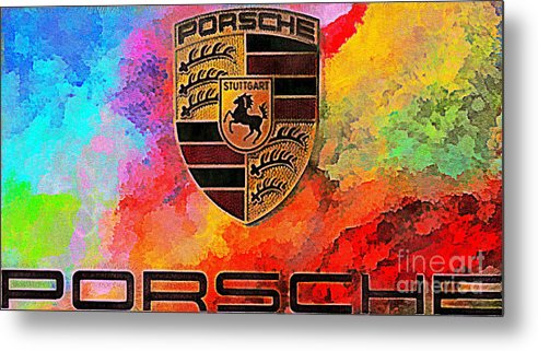 Porche Metal Print featuring the photograph Porsche In Abstract by Scott B Bennett