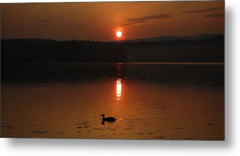 Lake Metal Print featuring the photograph Sunrise At Canaan Street Lake by Sharon L Stacy