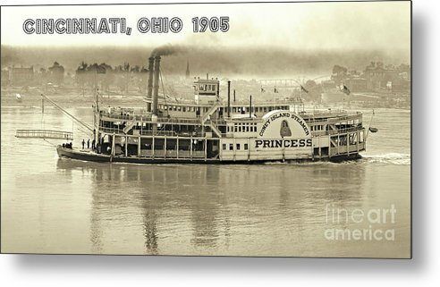 Coney Island Steamer Metal Print featuring the photograph Coney Island Steamer Princess by Padre Art