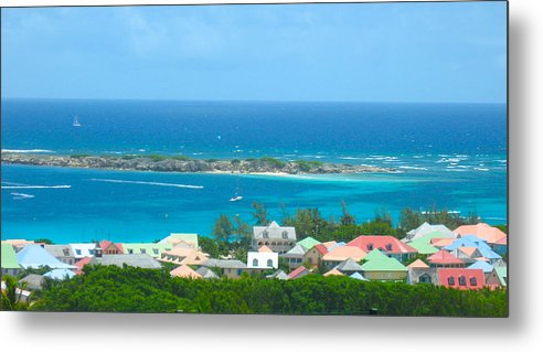 St. Martin Metal Print featuring the photograph Hillside In St Martin by Stacey Robinson