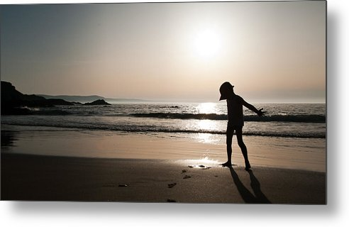 Xenia Seurat Metal Print featuring the photograph Sunset At Freathy by Xenia Seurat