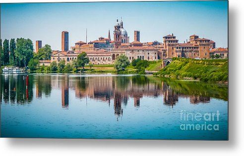 Andreas Hofer Metal Print featuring the photograph Mantua Skyline by JR Photography