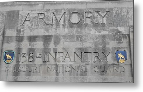 Armory Signage Metal Print featuring the photograph Armory Signage by Ginger Repke