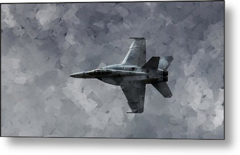 F18 Metal Print featuring the photograph Art In Flight F-18 Fighter by Aaron Lee Berg