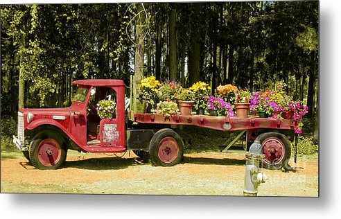 Truck Metal Print featuring the photograph Fredericksburg Texas by Terry Burgess