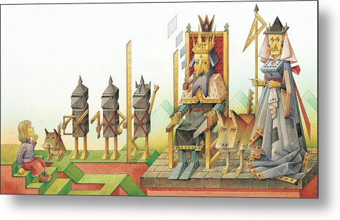 King Queen Metal Print featuring the painting Lisas Journey 07 by Kestutis Kasparavicius