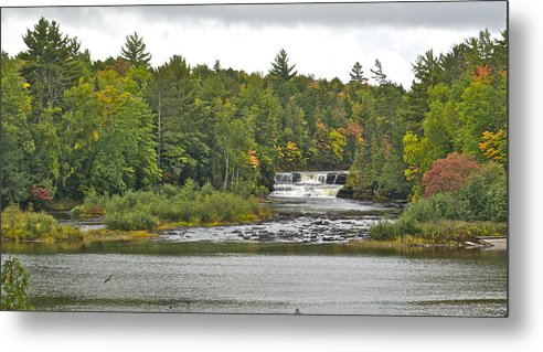 Tahquamenon Falls Metal Print featuring the photograph Lower Tahquamenon Falls 4 by Michael Peychich