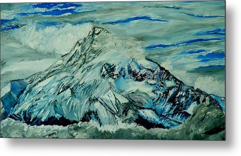 Mountain Metal Print featuring the painting Mount Hood by Gregory Allen Page