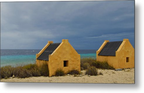 Slave Metal Print featuring the photograph Slave Huts by Stephen Anderson