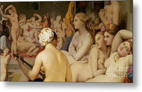 Nude Metal Print featuring the painting The Turkish Bath by Ingres