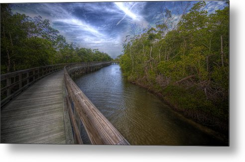 Pier Metal Print featuring the photograph A Peaceful Walk by Tom Lass
