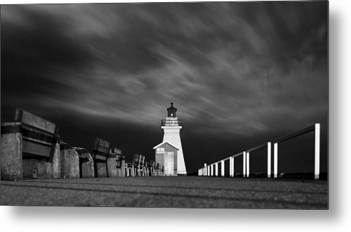Black& White Metal Print featuring the photograph Night Skies. by Tracy Bennett