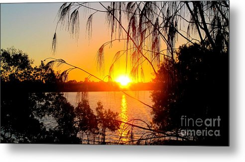 #sunset Metal Print featuring the photograph Sunset Reflections by Libby Ryding