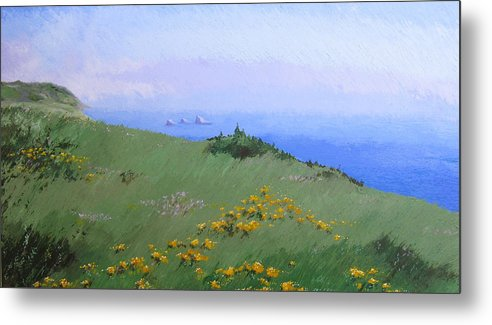 Landscape Metal Print featuring the painting Big Sur by Hunter Jay