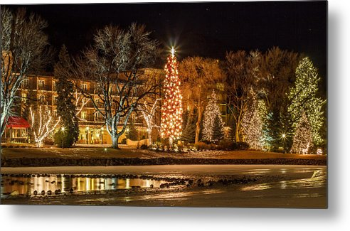 Chirstmas Lights Metal Print featuring the photograph Broadmoor Christmas Lights by Jeff Smith