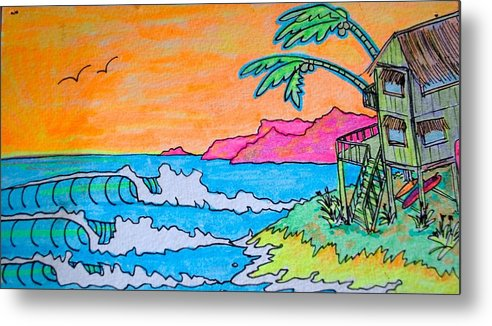 Island Metal Print featuring the drawing Dream Spot by Kim Hamrock