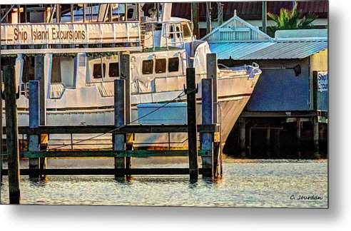 Boat Metal Print featuring the photograph Excursion Boat by Cathy Jourdan