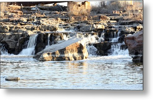 Wildlife Metal Print featuring the photograph Falls Park Waterfalls by Lori Tordsen