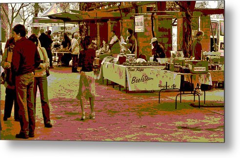 Farmers Market Metal Print featuring the photograph Fresno Urban Farmers Market by Joseph Coulombe