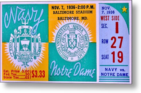 Navy Metal Print featuring the photograph Game Of Honor by Benjamin Yeager
