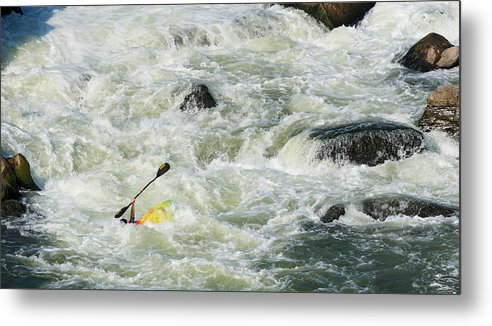 Kayak Metal Print featuring the photograph Help by David Kay