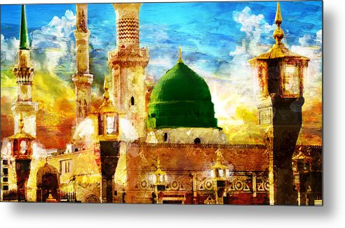 Islamic Metal Print featuring the painting Islamic Paintings 005 by Catf
