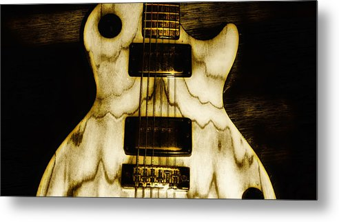 Les Metal Print featuring the photograph Les Paul - Blondes Have More Fun by Bill Cannon