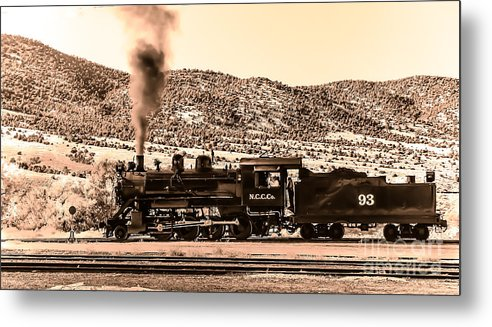 Train Metal Print featuring the photograph Nevada Northern Railway by Robert Bales