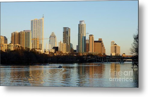 On Lady Bird Lake Metal Print featuring the photograph On Lady Bird Lake by William Bosley